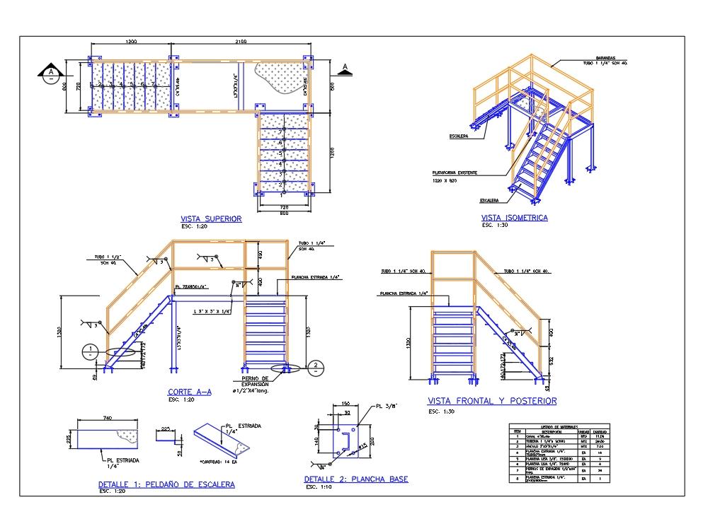 Walkway watertight area construction detail