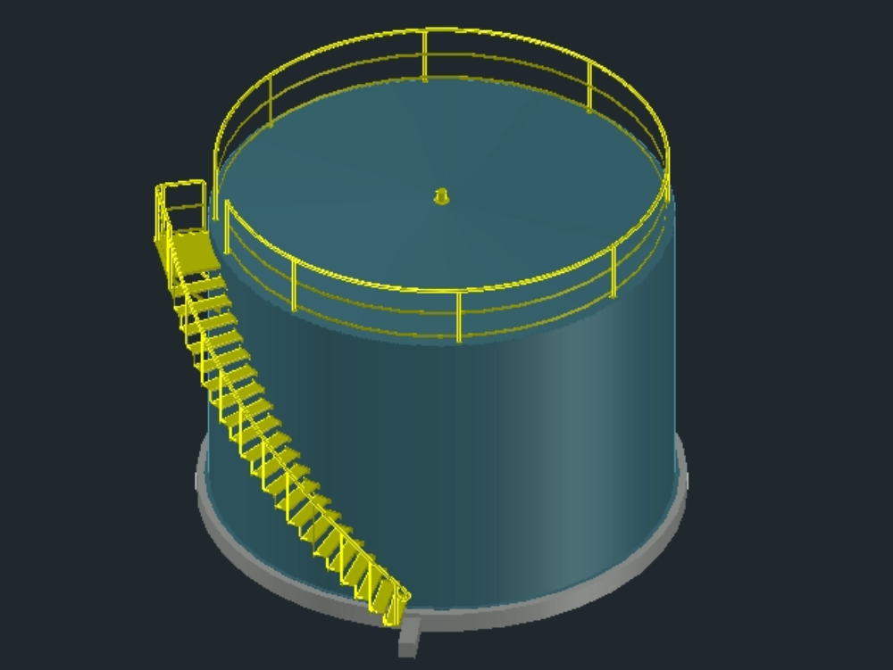 Oil tank ladder.