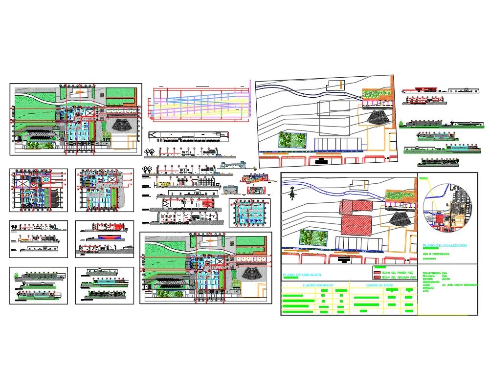 Desarrollo planos centro cultural en ancón
