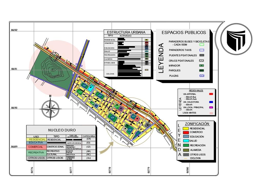 Architectural urban proposal.