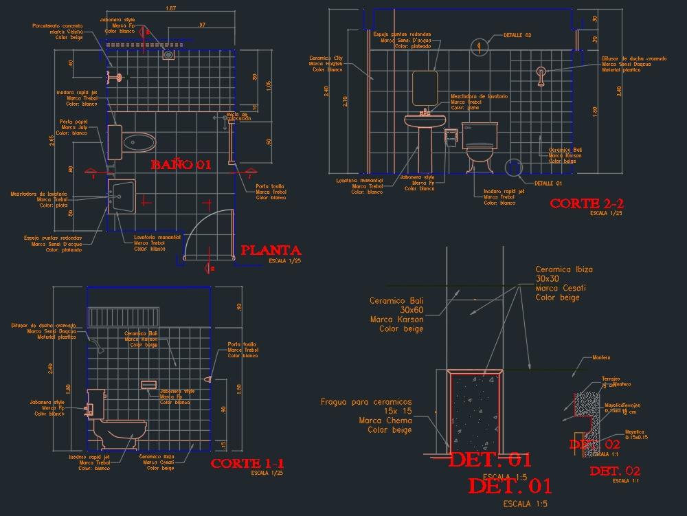 Sanitary architectural plan