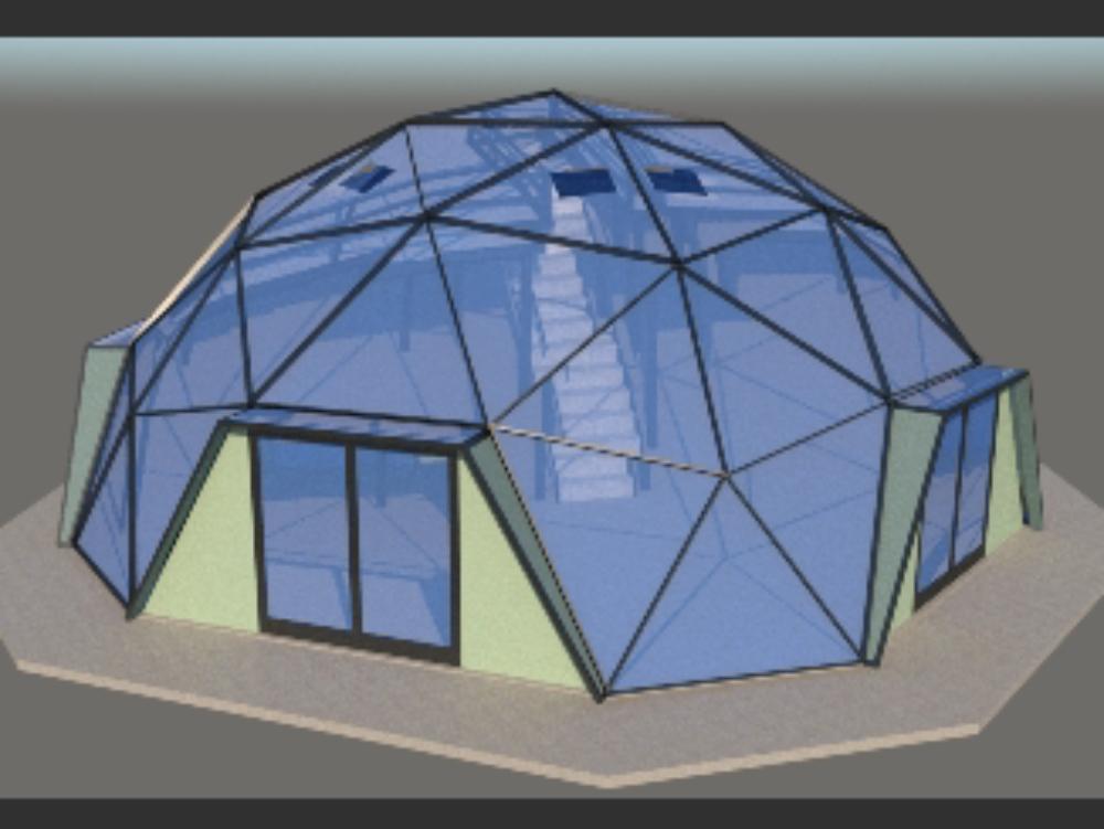 Metal dome, richard buckminster fuller