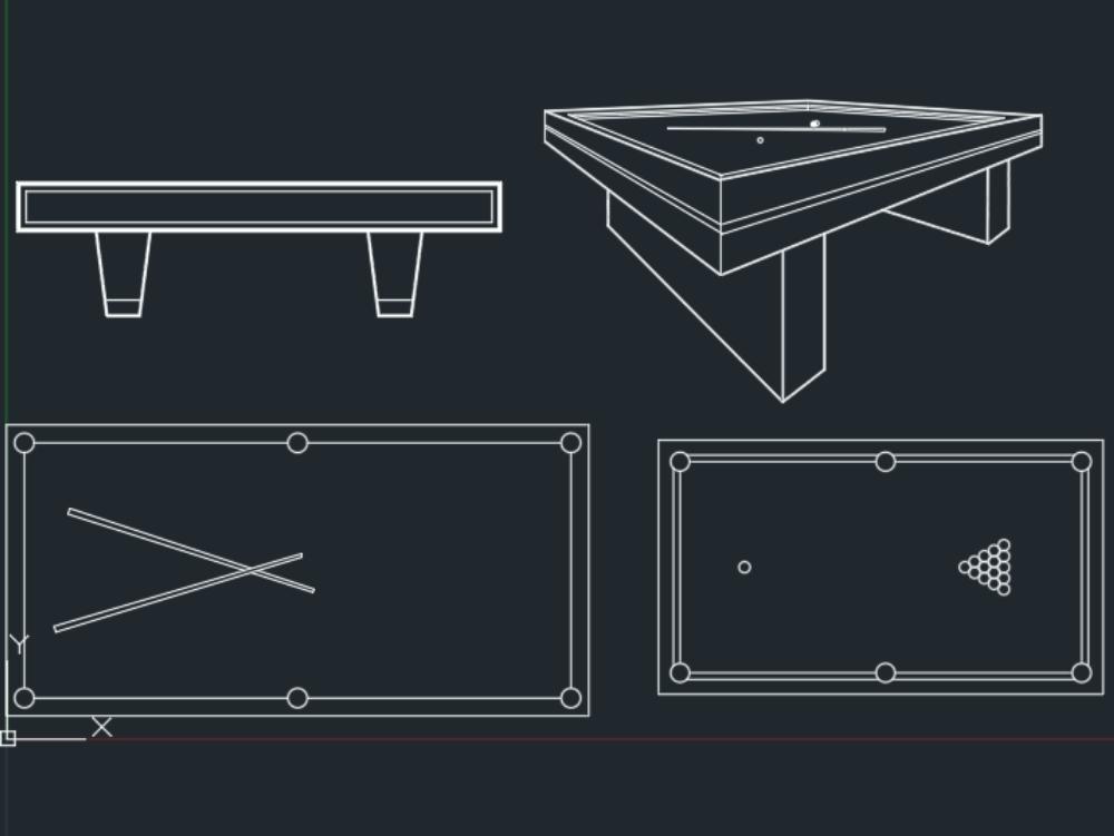 Dibujo de mesa de billar