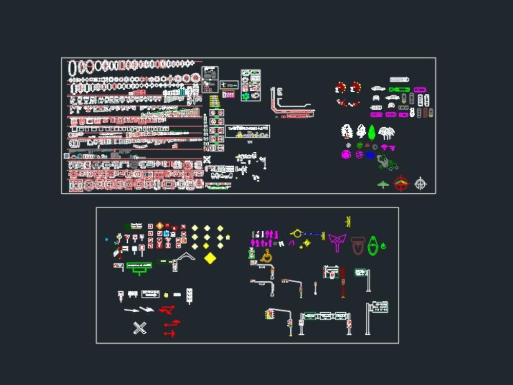 Möbelblöcke und Dinge für autocad