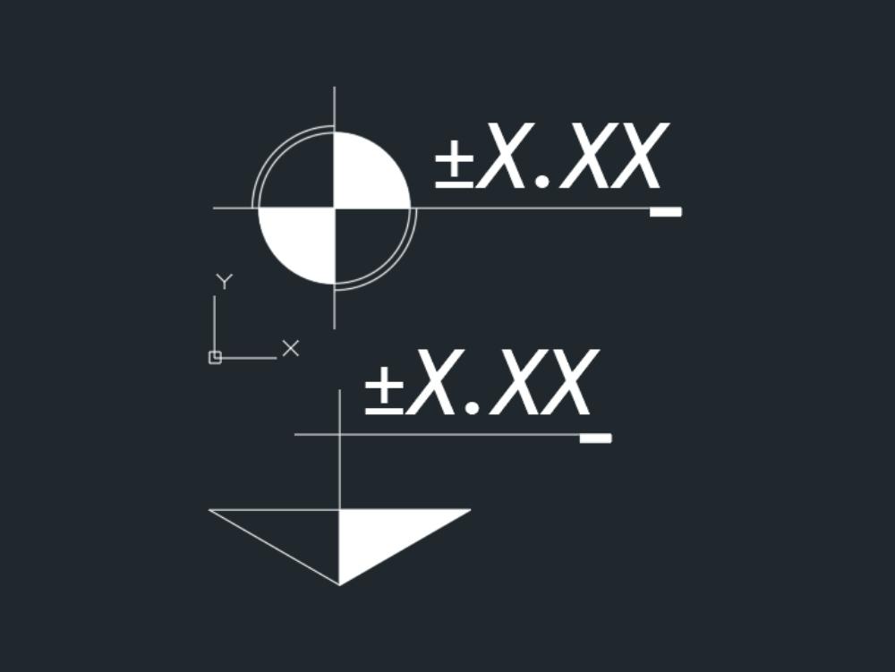 Simbolo-cota de nivel (planta y alzado)-anotativo