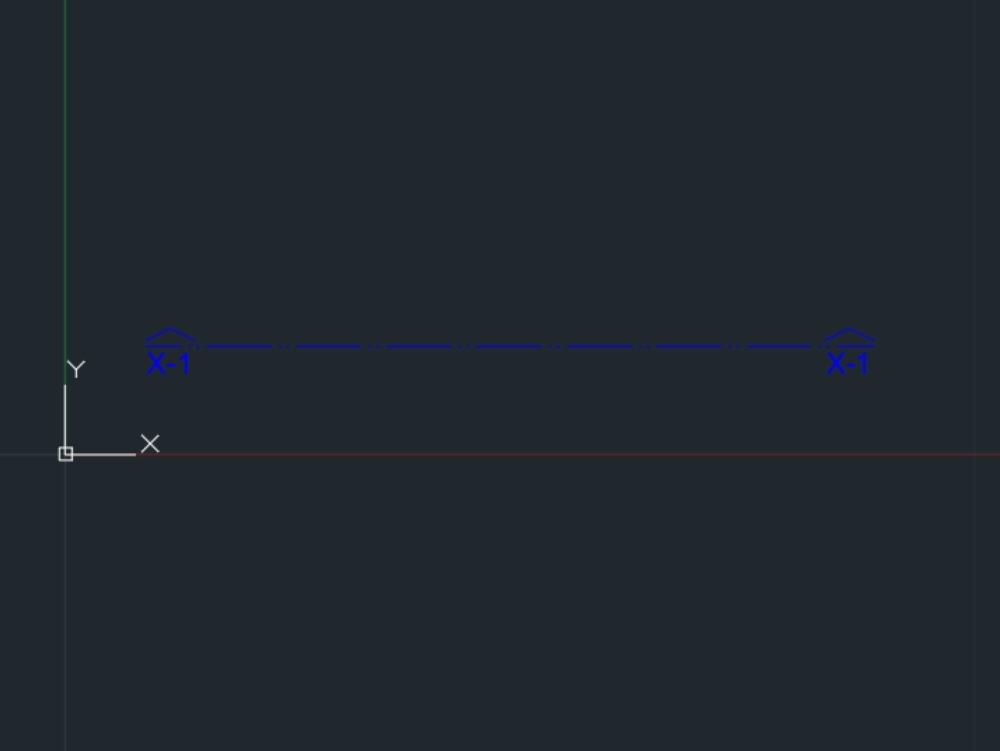 Linea de sección dinámica en escala 1:100