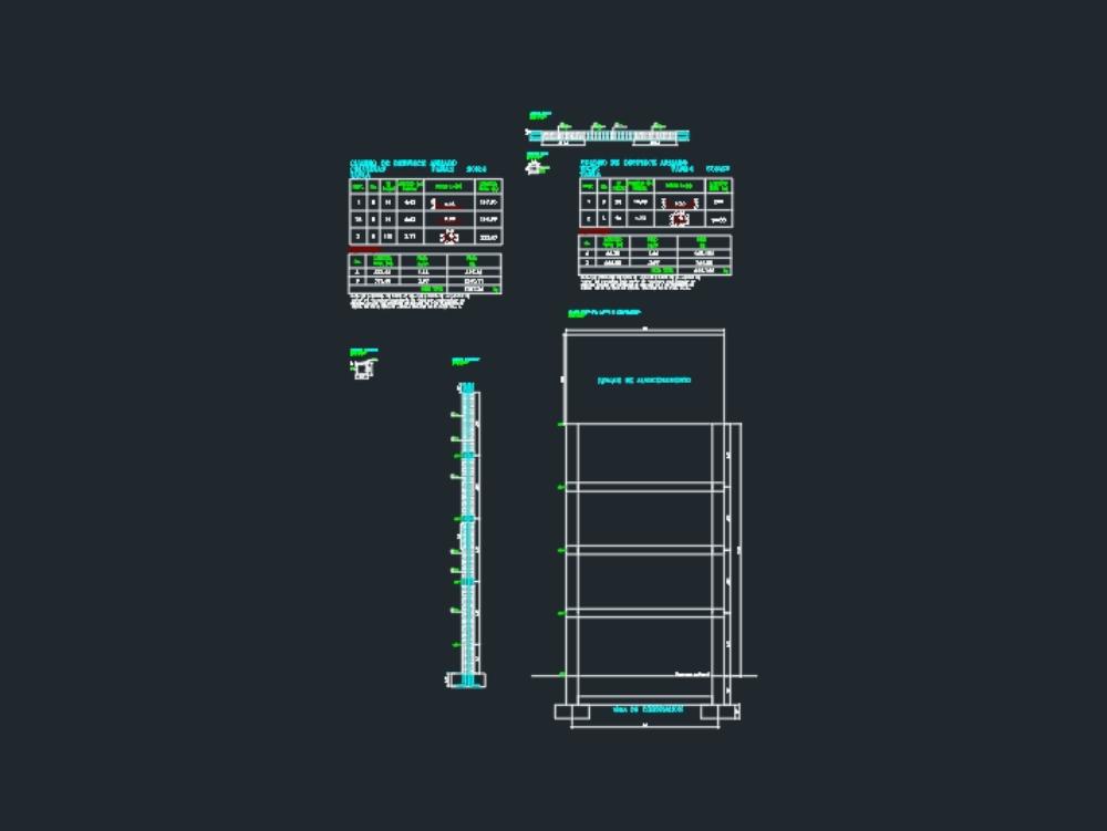 Structural plan storage tank