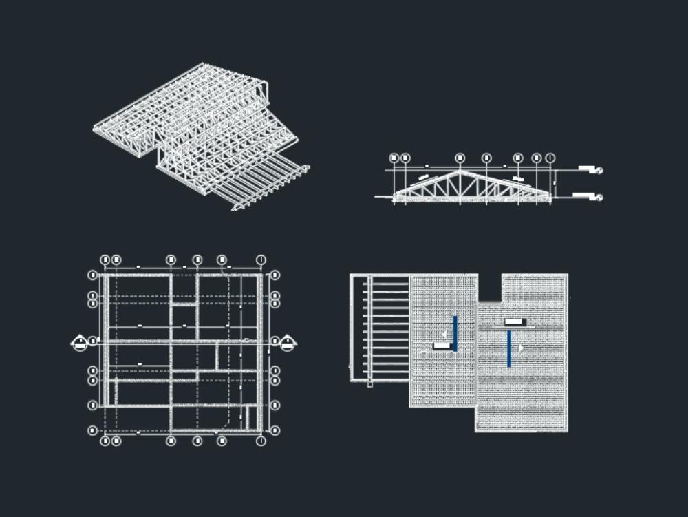 Estructura de cubierta metalica galvanizada