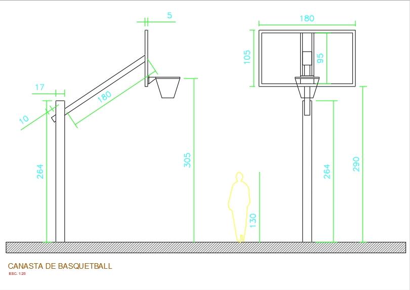 Basketball basket measurements
