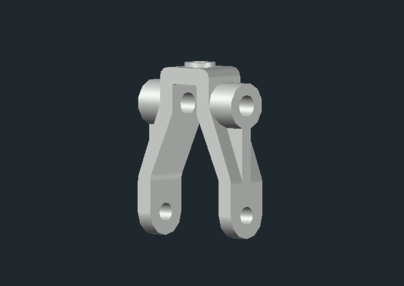 Pieza mecánica industrial autocad