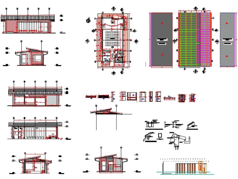 Plantas arquitectónicas salon cultural