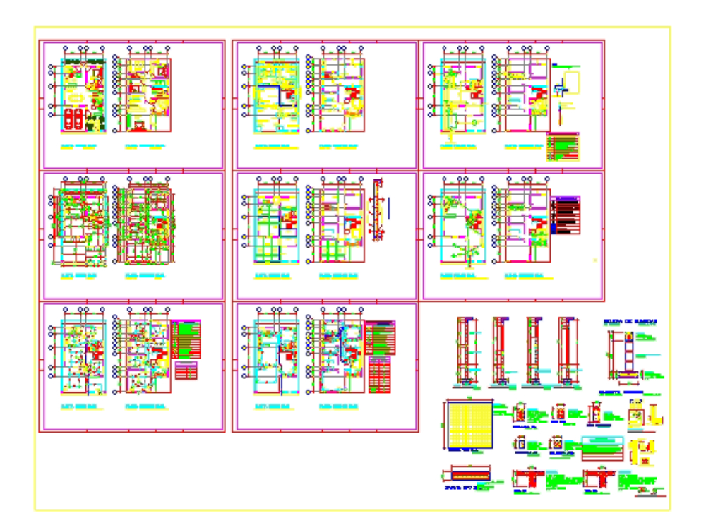 Two-level house plans 200m2