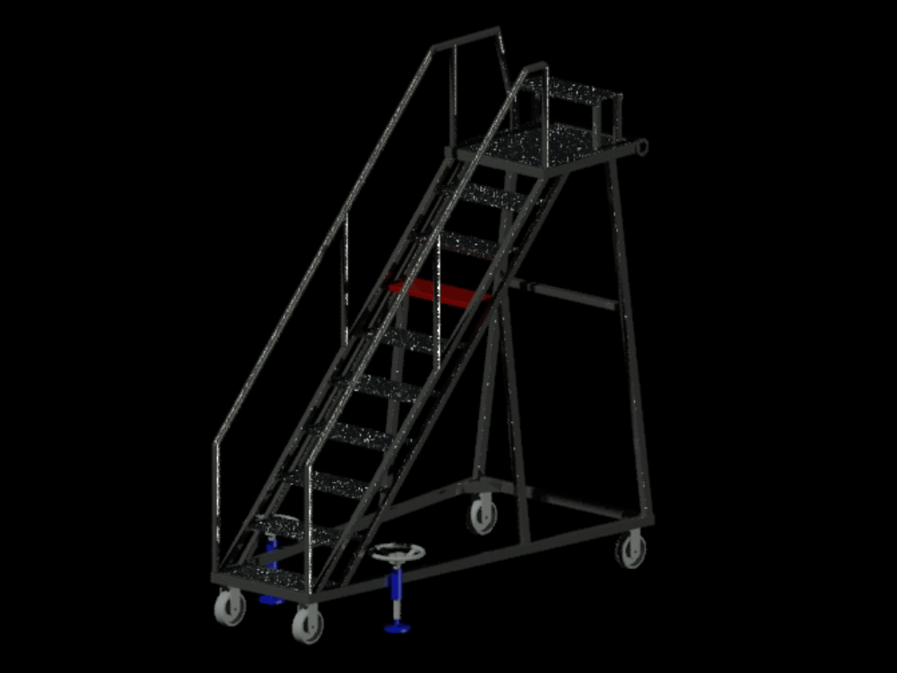Plane type ladder with pulleys and brakes