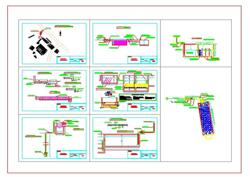 Sewage treatment plant scheme model