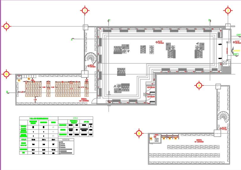 Distribución de ductos aire acondicionadp