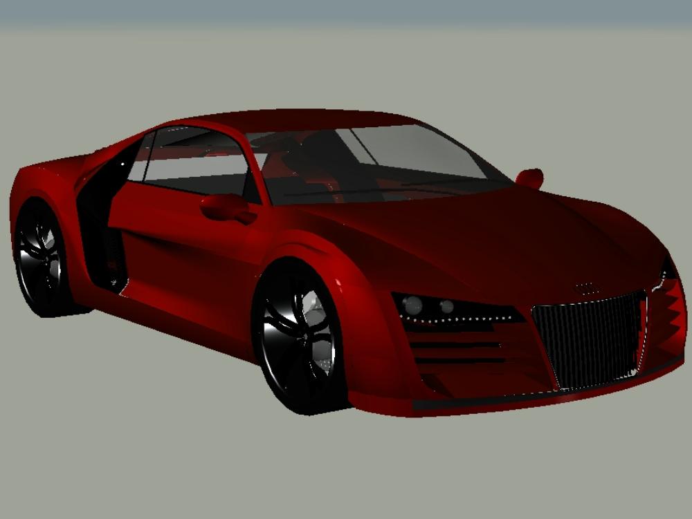 Audi r8 autocad in drei Dimensionen