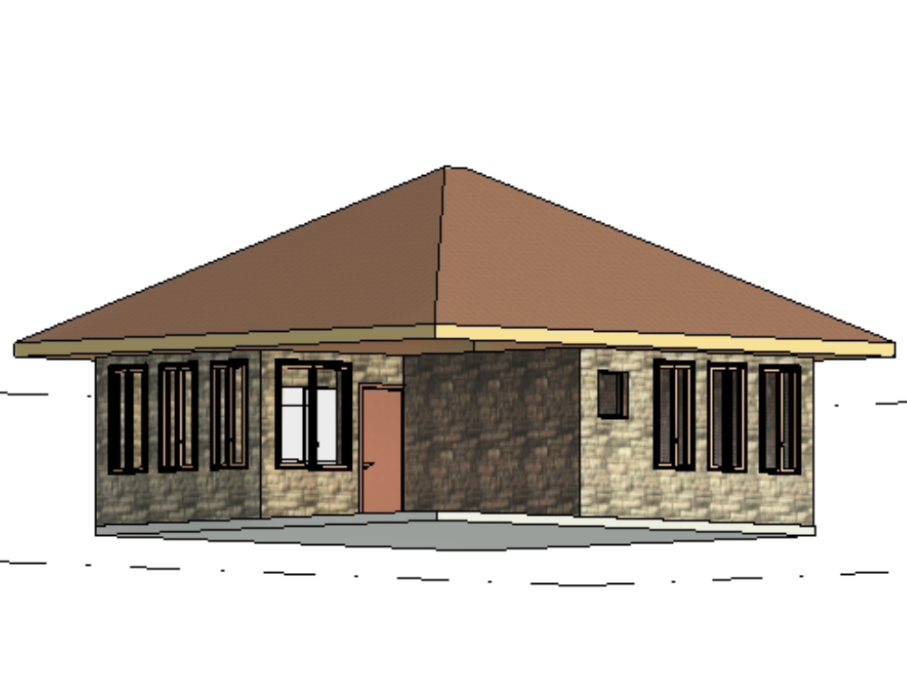 2-story pool house; architectural plans