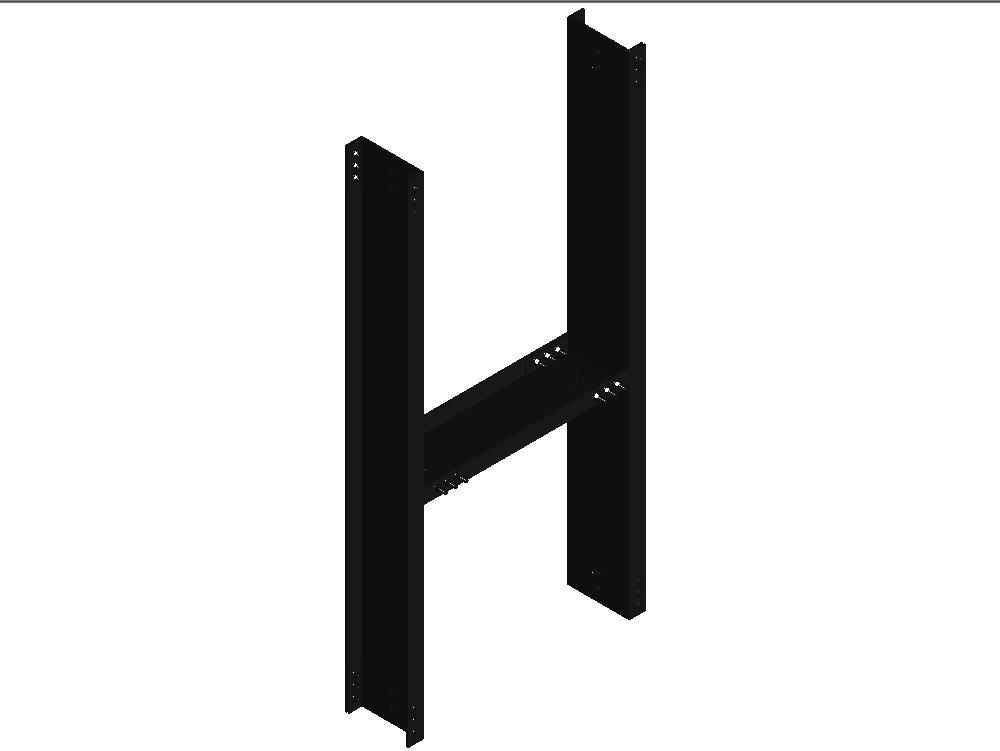 Detalle estructural de acero en forma de h