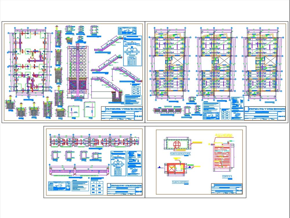 Planos y detalles estructurales de vivienda unifamiliar