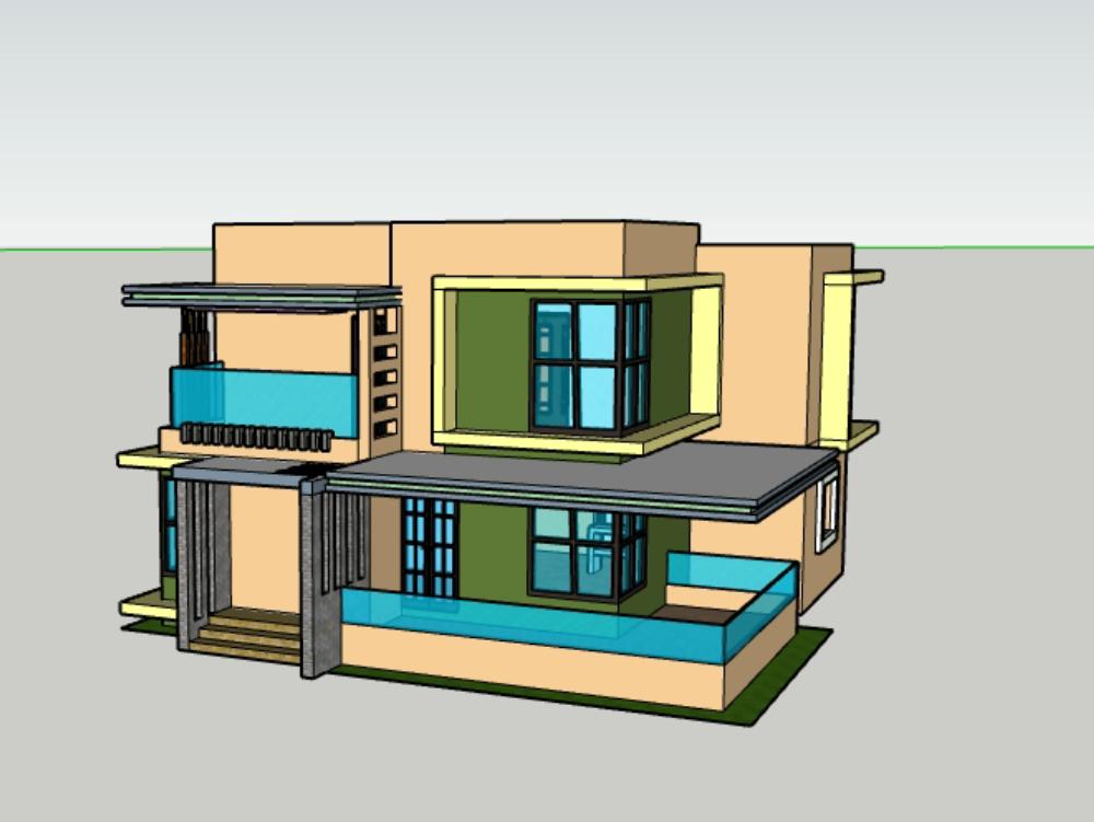 2 level house design