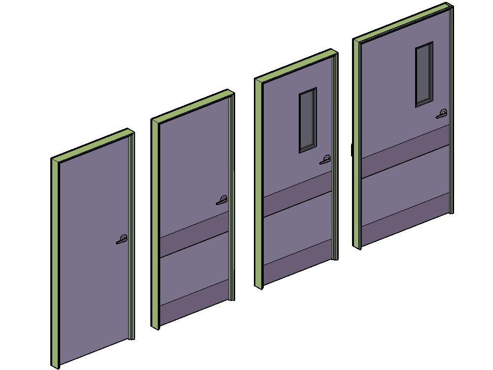Puertas para hospitales con protecciones y mirillas