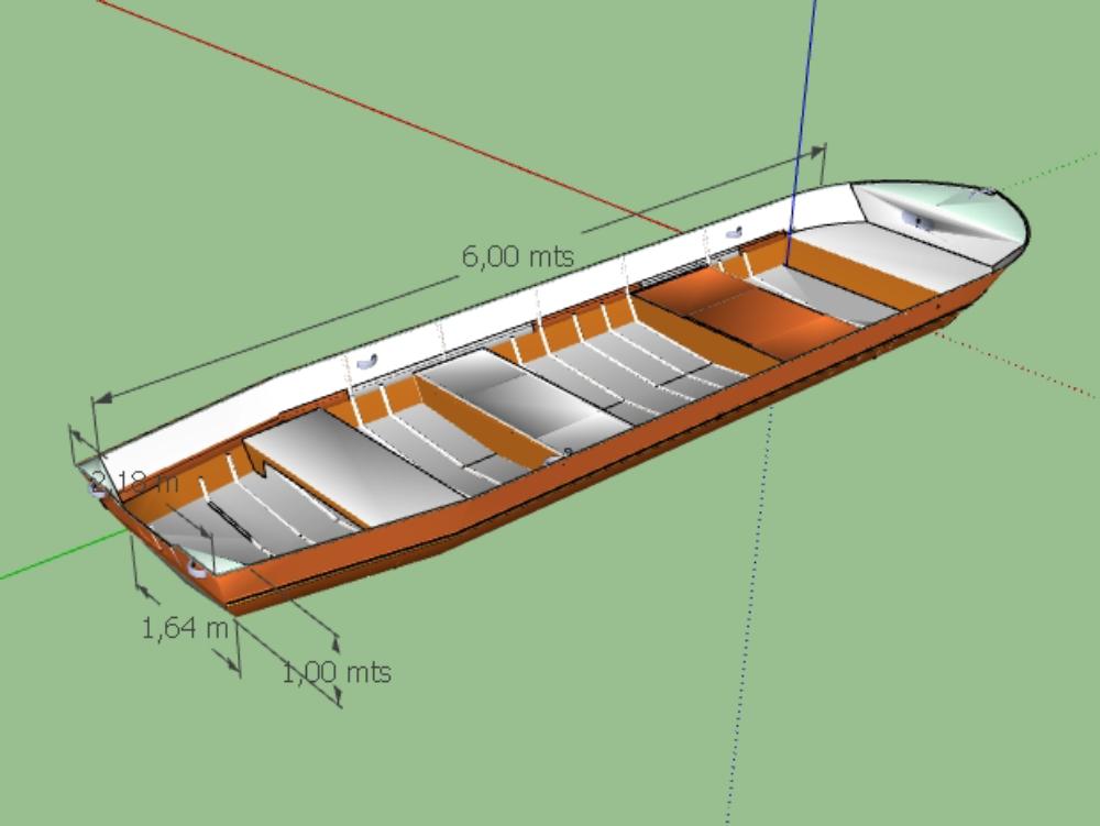 6 meter boat; resistant speedboat