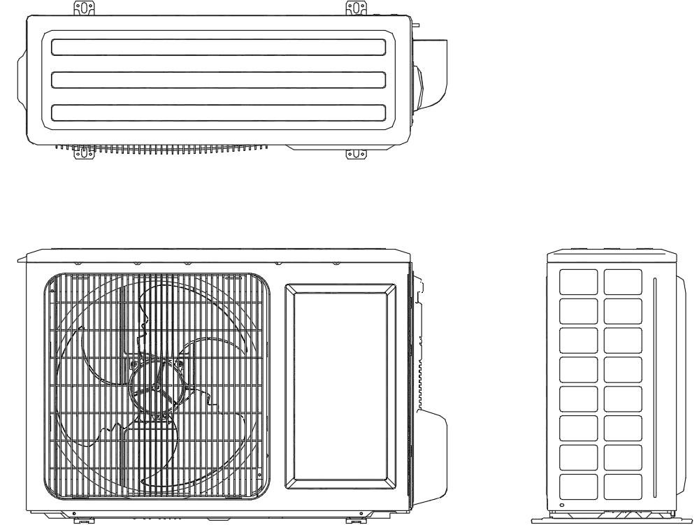 Condensador de 18000 btu/hr horizontal
