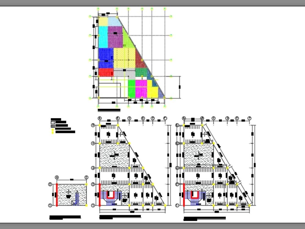 Dibujo en autocad de un diseño y predimencionamiento de una estructura de un casa de cultura
