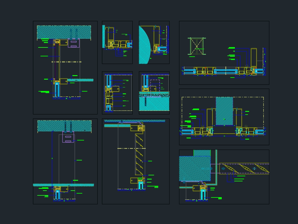 Detalles de sistemas de paredes de vidrio detalles de ventanas
