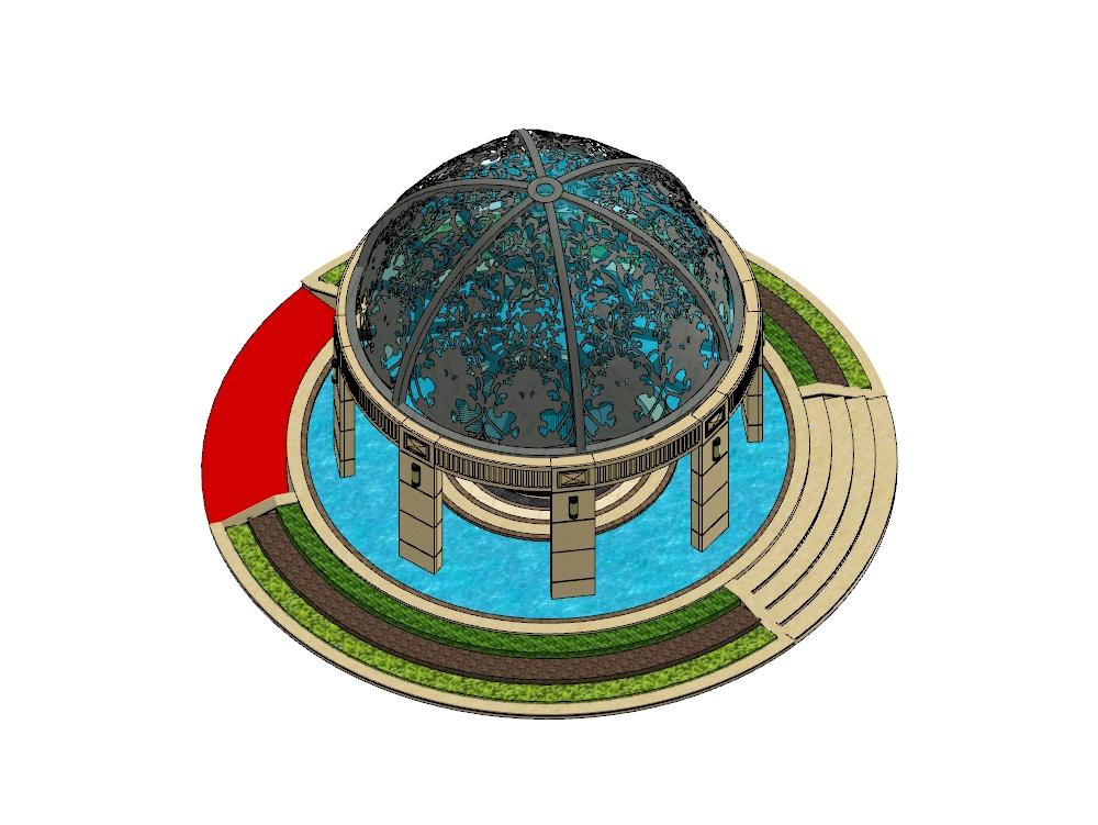 Diseño de gazebo 3d en el software sketchup