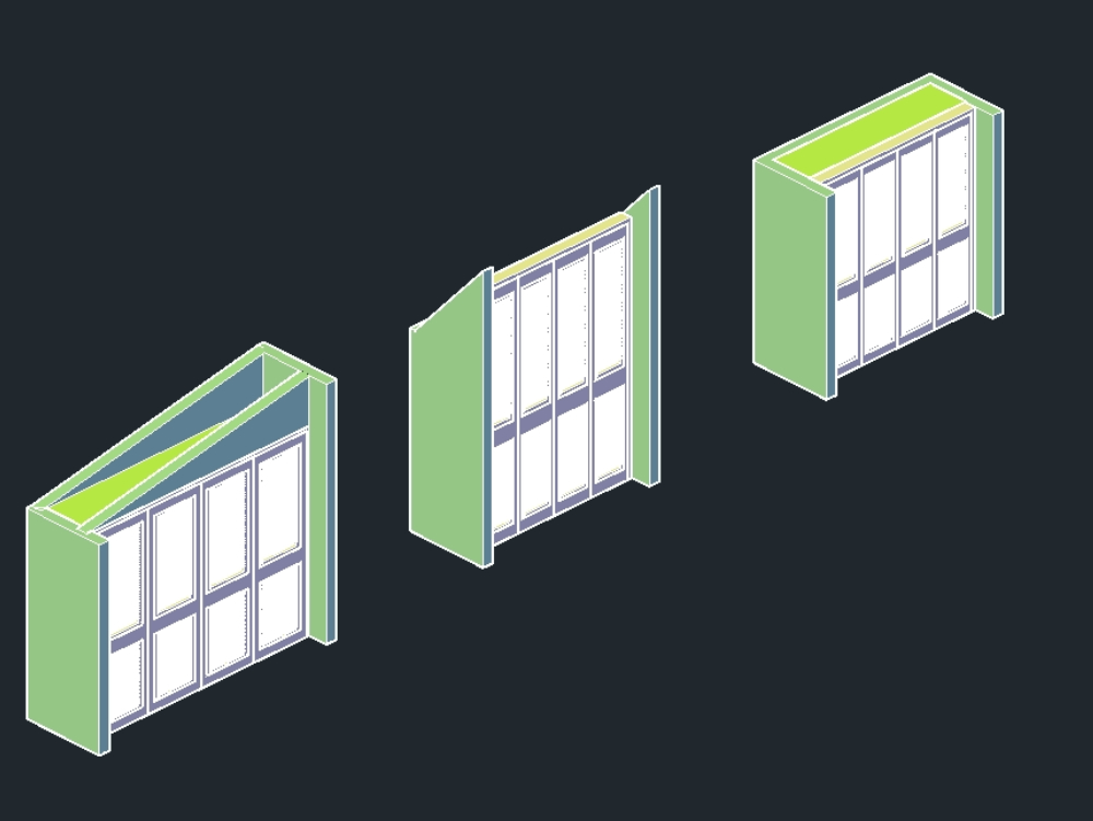 Basic closet in isometric in dwg format