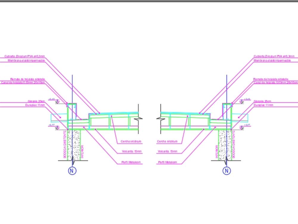 Construcción cercha de acero con metalcon