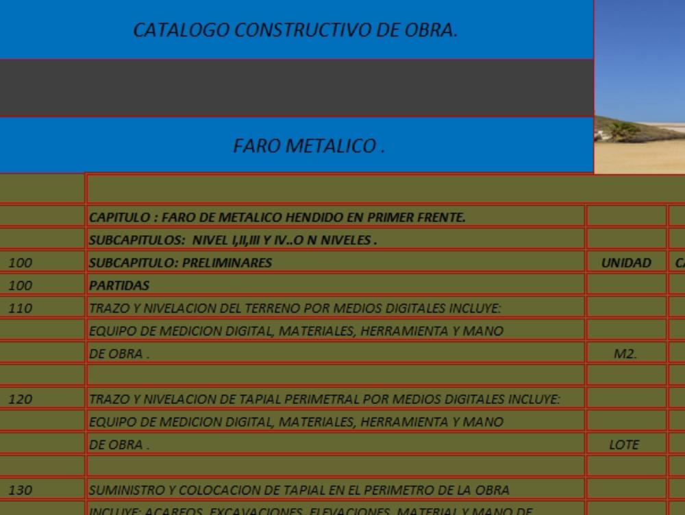 8 levels metallic lighthouse construction catalog