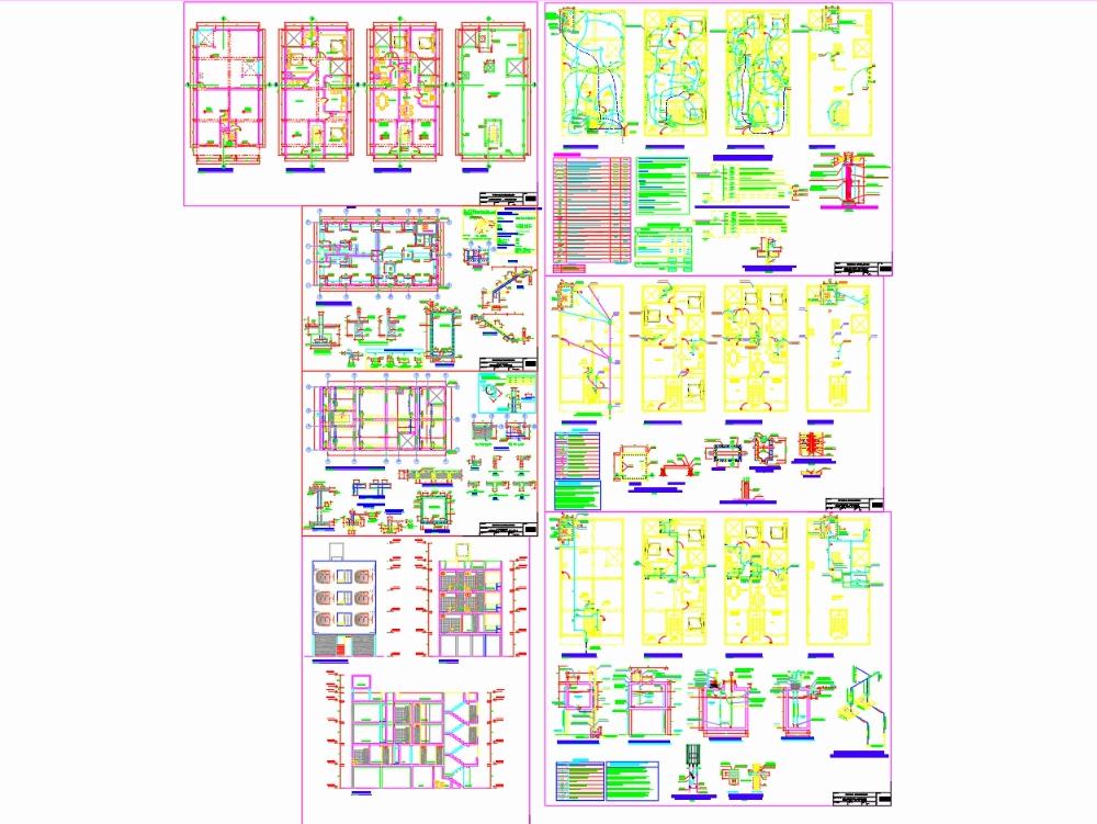 Vivienda multifamiliar con instalaciones de 4 pisos