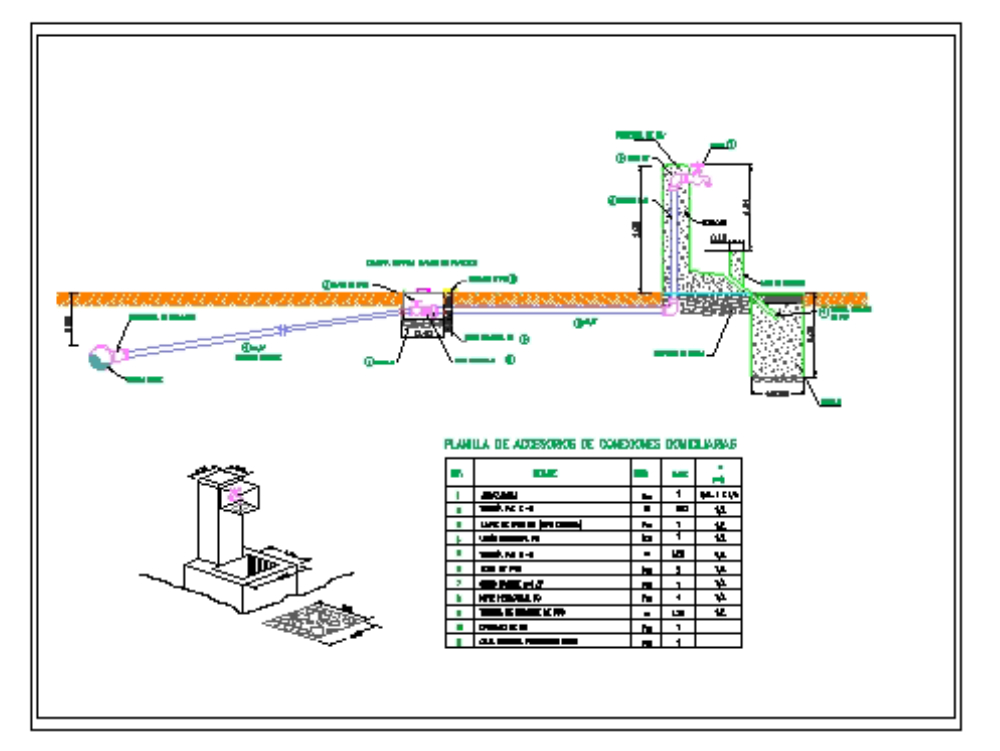 Conexión domiciliaria de agua potable