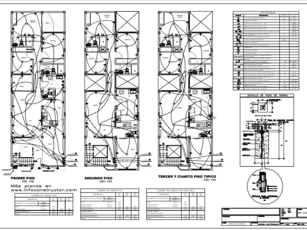 Planos pdf de una vivienda multifamiliar