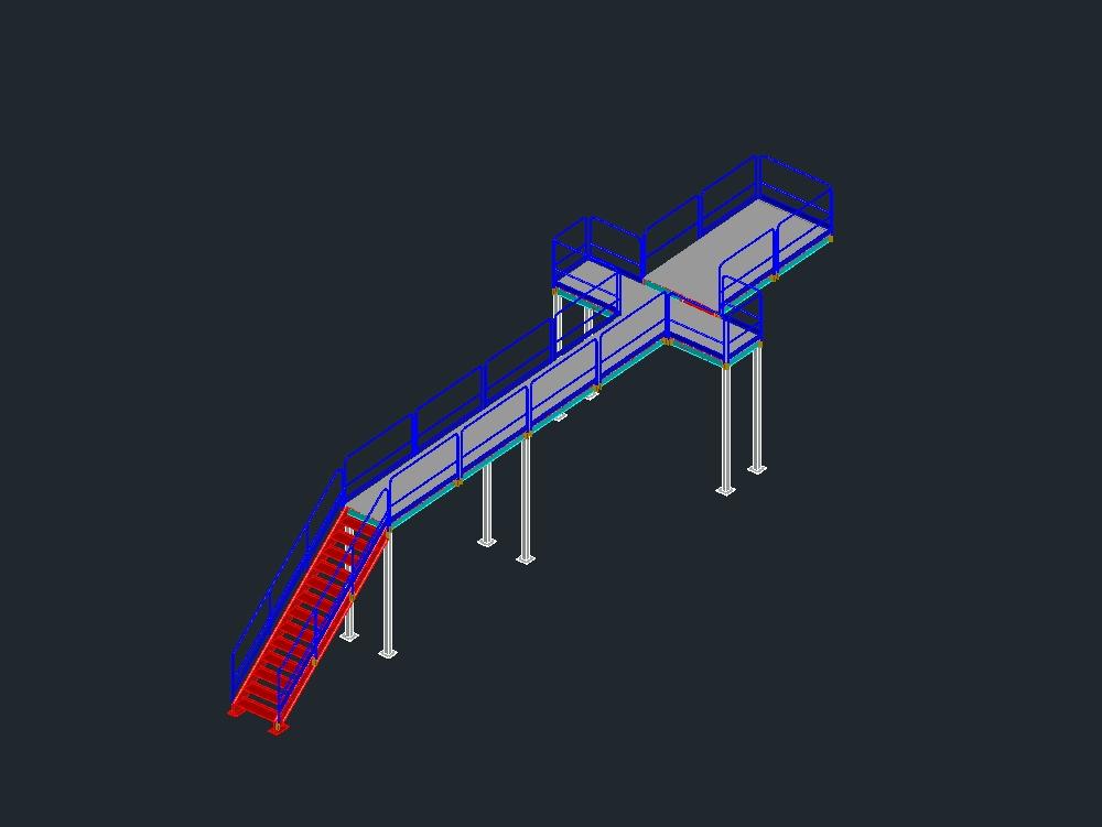 Structural operating platform