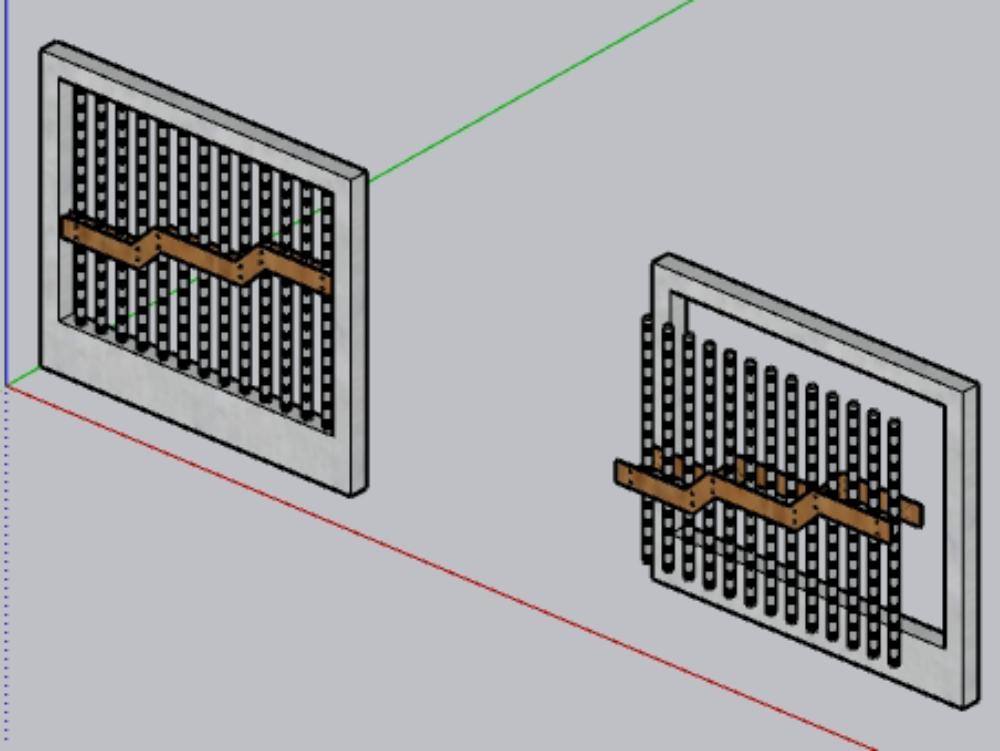 Cerco perimetrico con columnas de mortero