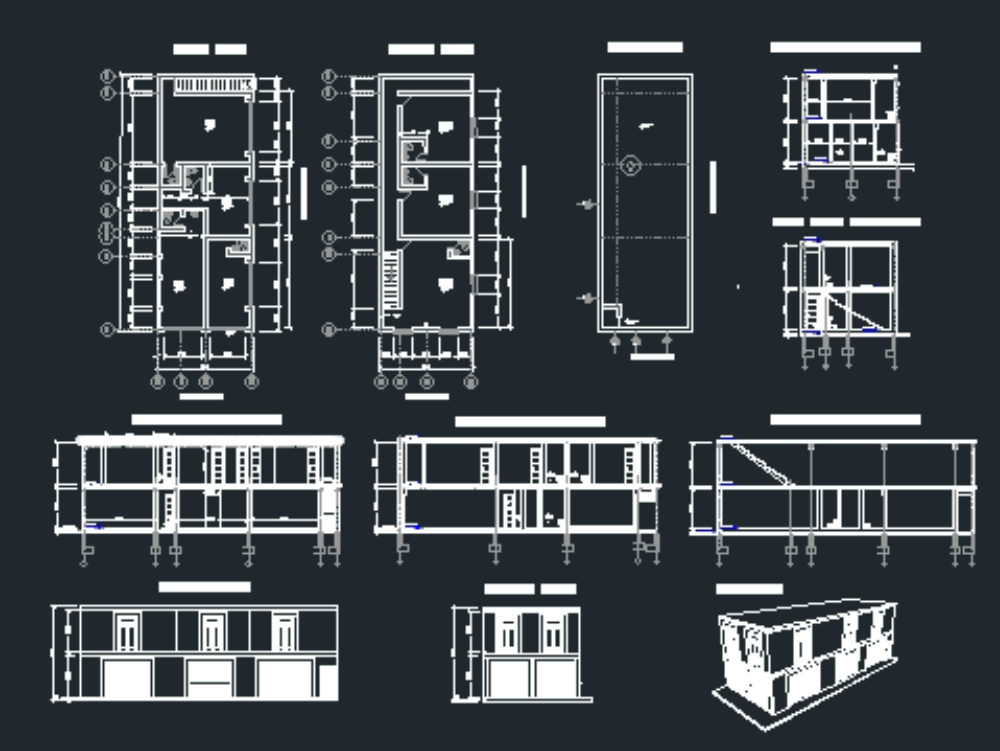 Office plan and construction premises