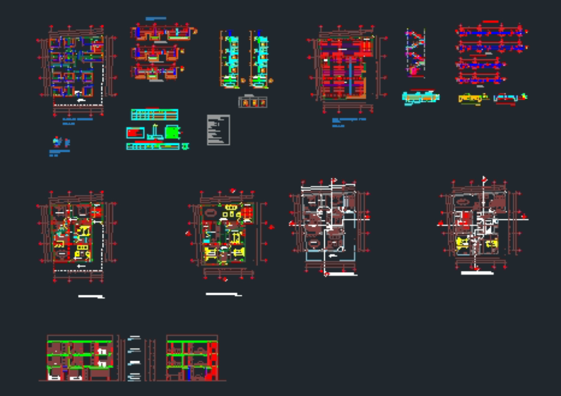 Plano de estructuras de un edificio