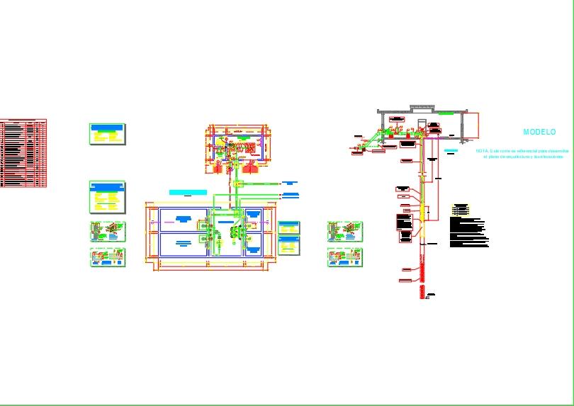 Plano de tanque cisterna y pozo tubular