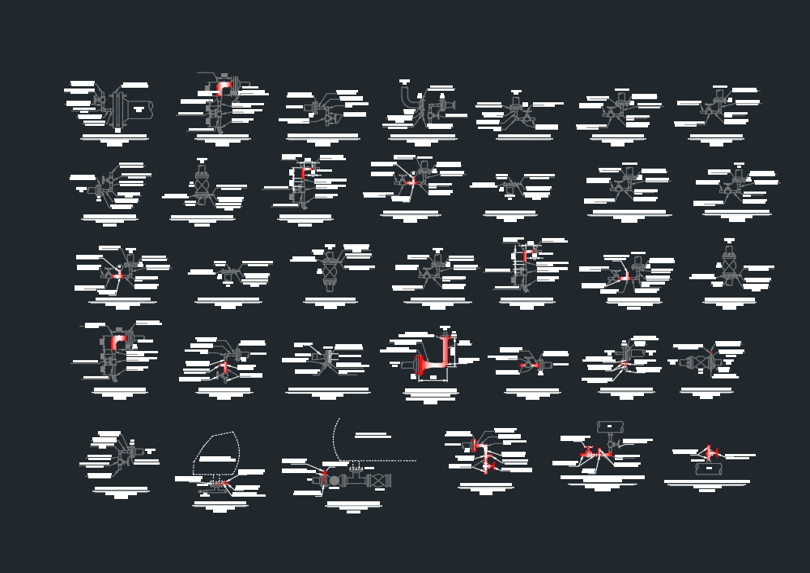 Simbologia de arreglos de valvulas