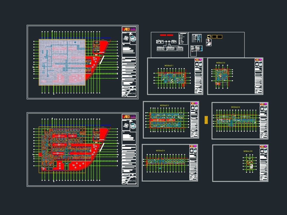 Hospital plan with electrical installation
