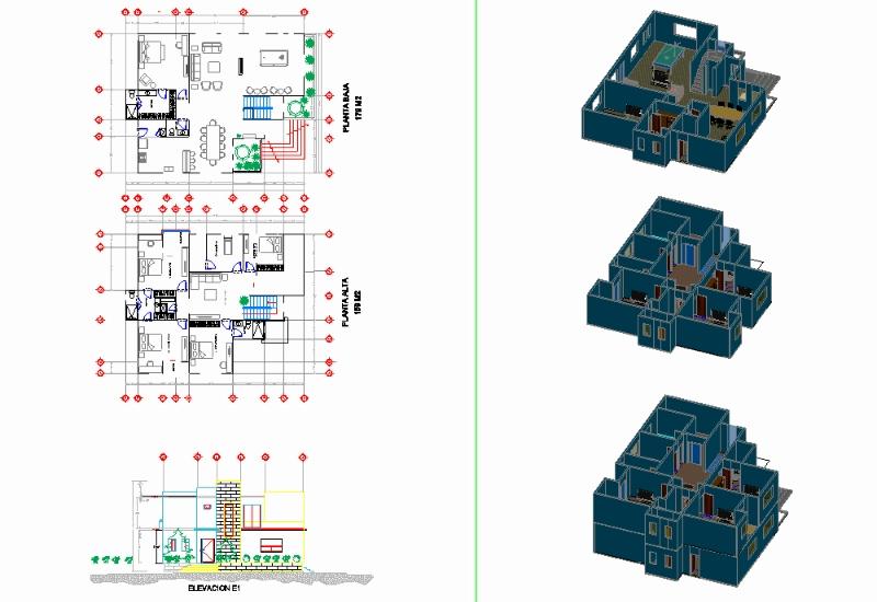 House 2 floors details