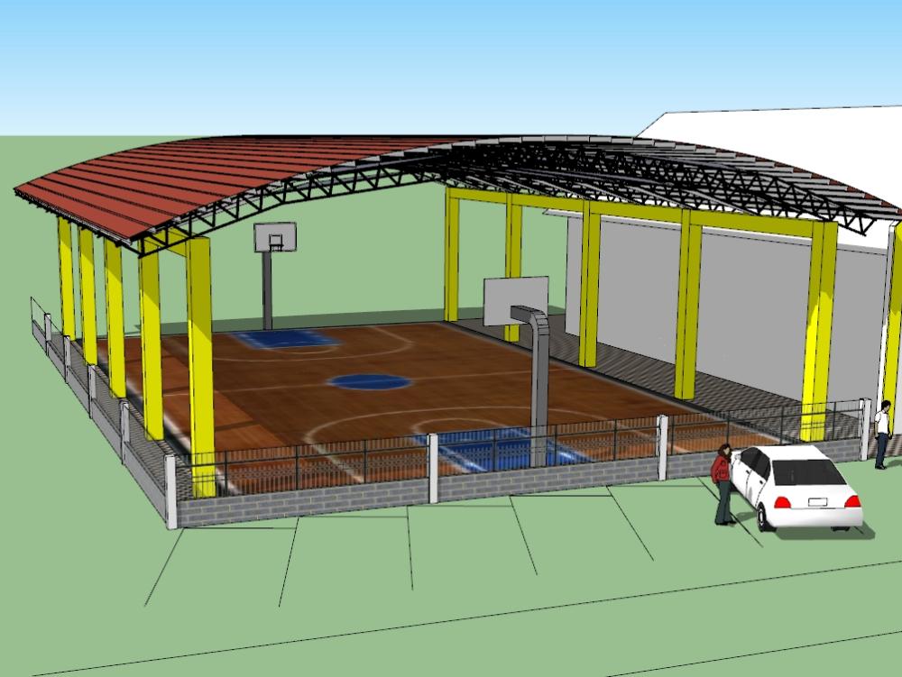 Estructura de techo de lamina comun