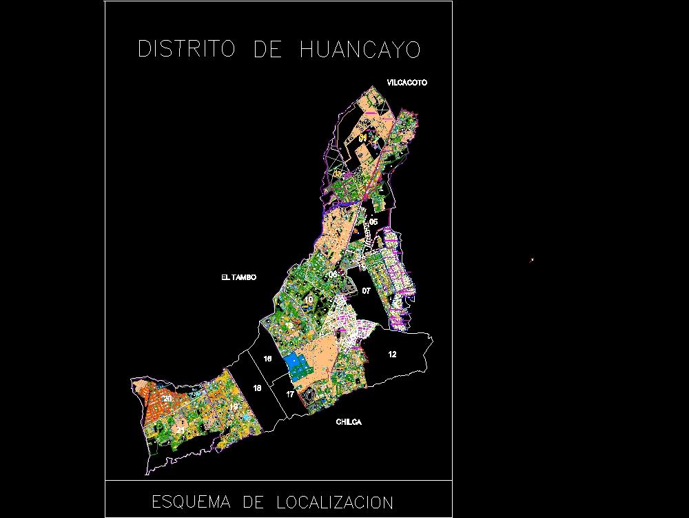 Catastro de la ciudad de huancayo junin