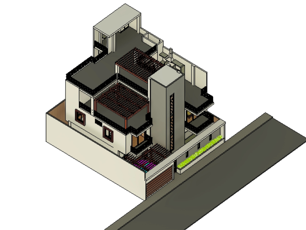 Country house - 4 levels