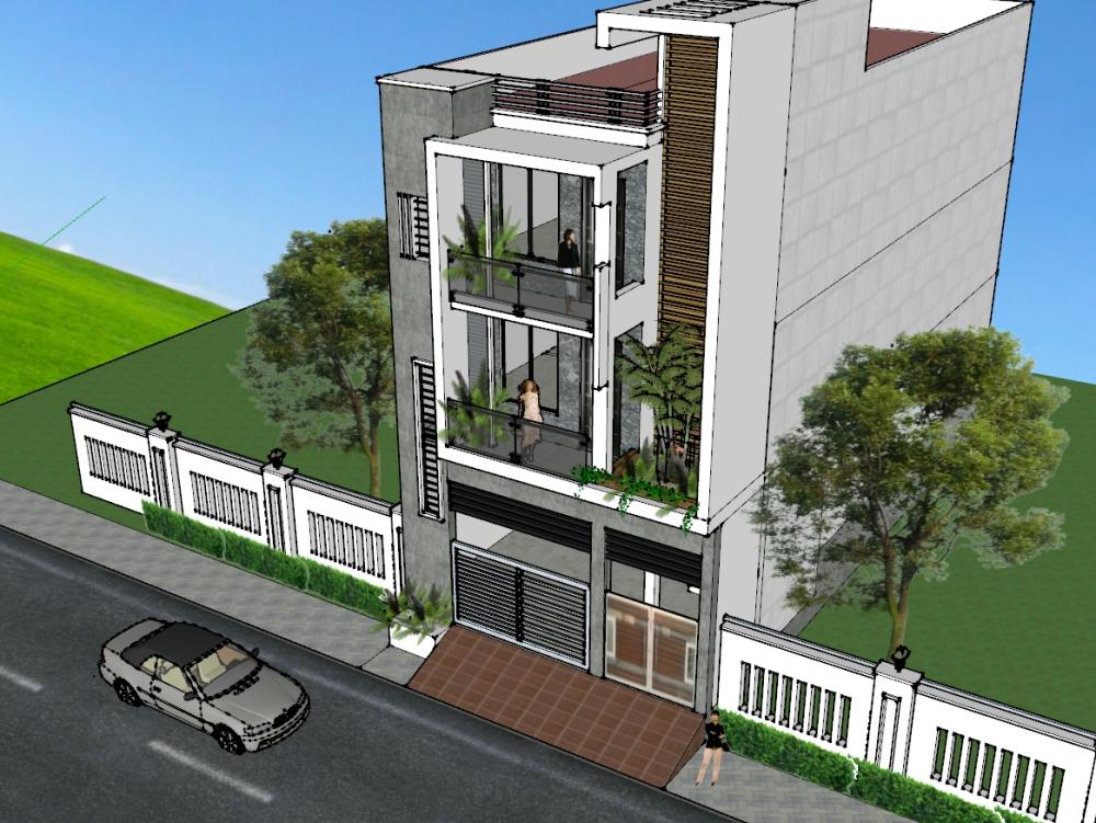Residence residence in sketchup skp