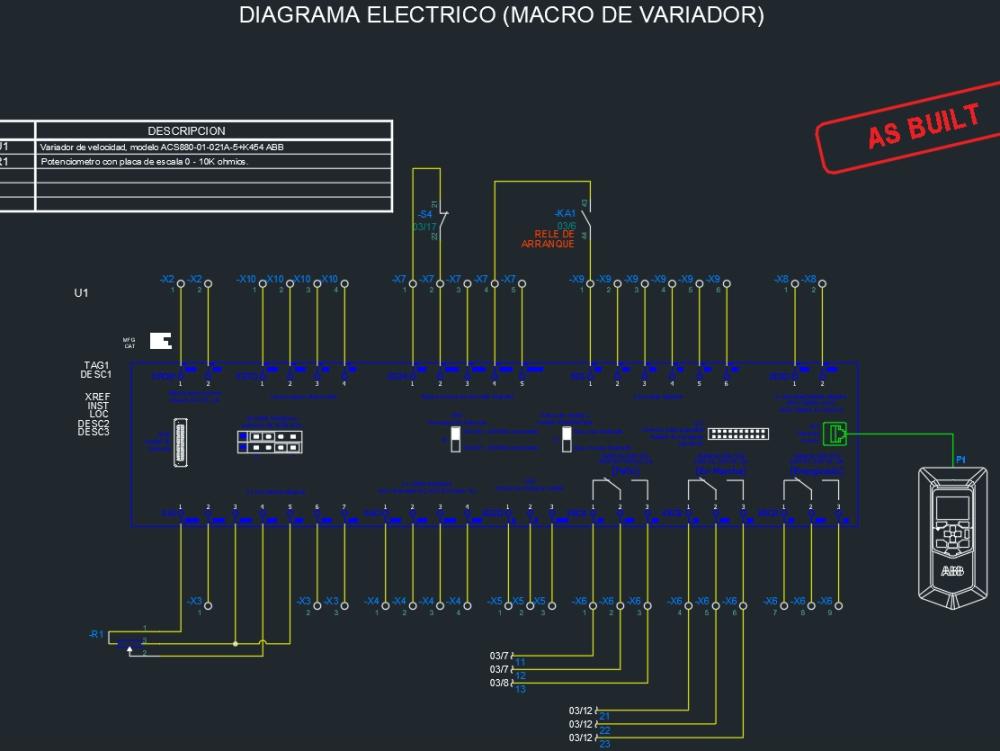 Diagrama electrico (macro variador)