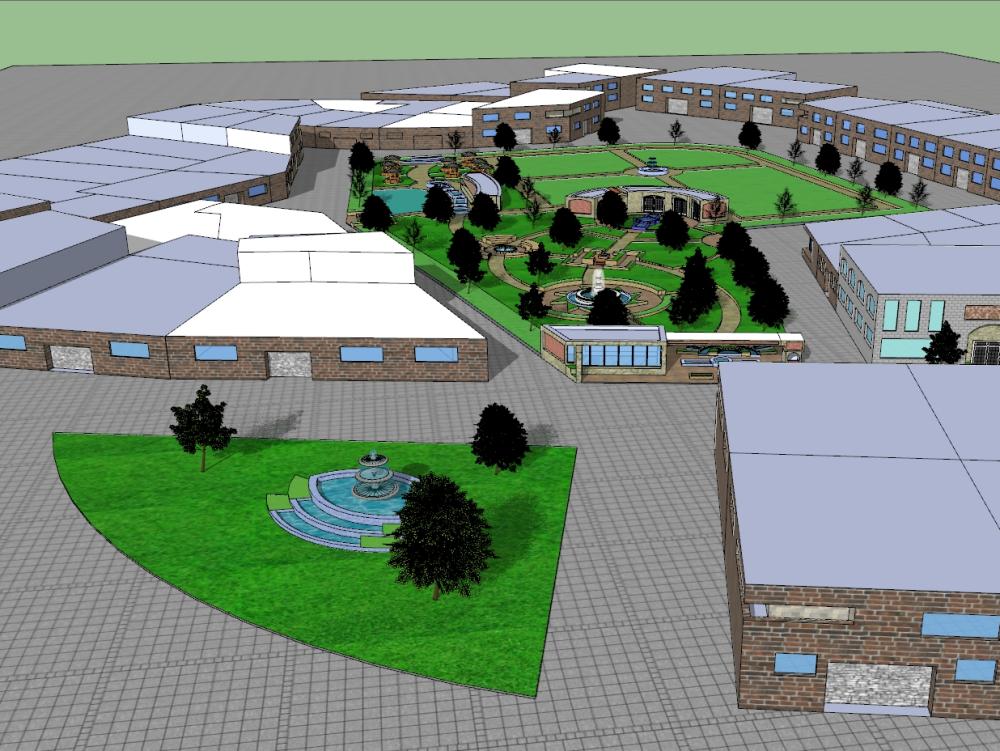 Neighborhood center design (local project)